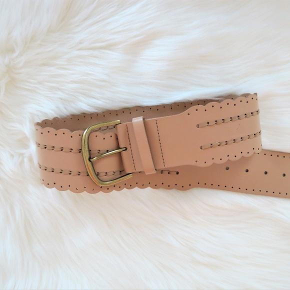 CAbi Accessories - Cabi light wide tan vegan leather belt